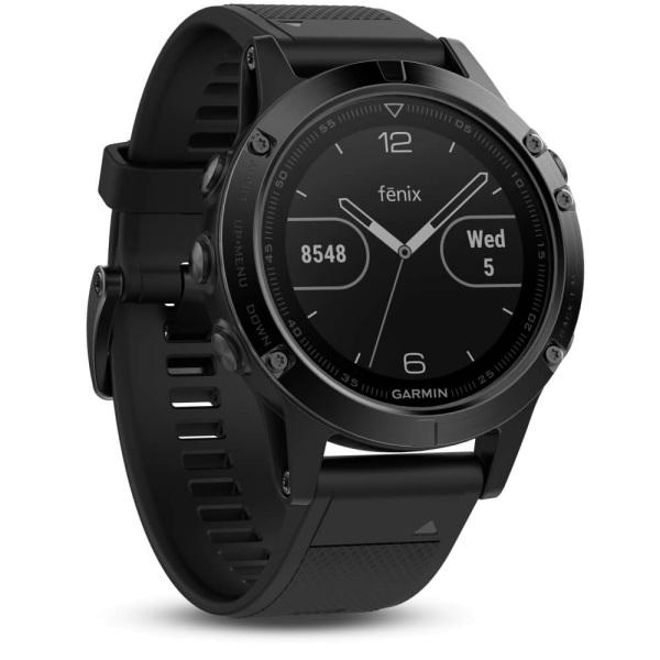 Garmin fēnix 5 Multisportuhr Saphir - Schwarz mit Armband schwarz Performer-Bundle bei CardioZone guenstig online kaufen