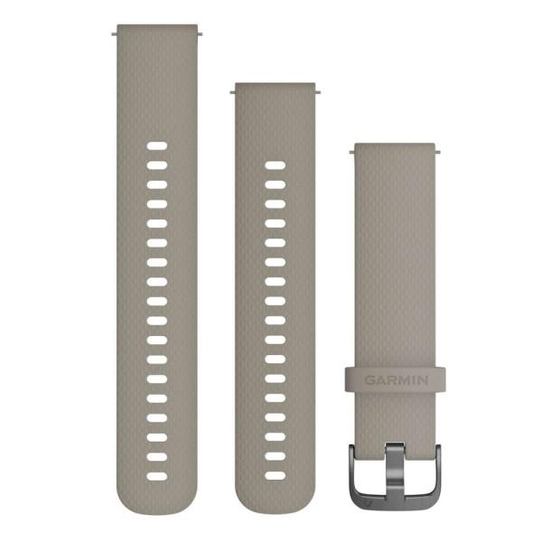 Garmin Schnell-Wechsel 20mm Silikon-Armband Sandstein / Schnalle Schiefergrau bei CardioZone günstig online kaufen