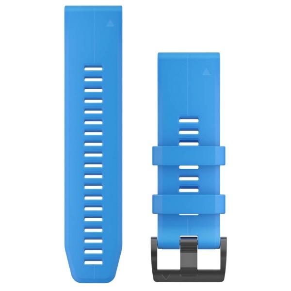 Garmin Quickfit 26mm Silikon-Armband Azurblau/Schwarz Gr. M für fenix 5X, tactix + fenix 3