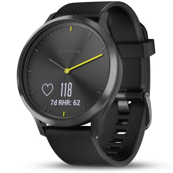 Garmin vivomove HR Schwarz Sport Smartwatch im analogen Uhrendesign bei CardioZone günstig online kaufen