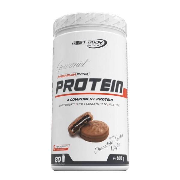 Best Body Gourmet Premium Pro Protein - Chocolate Cookie Wafer - 500 g Dose bei CardioZone günstig online kaufen