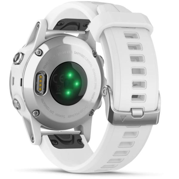 Garmin fenix5S Plus Saphir Weiß mit weißem Armband bei CardioZone guenstig online kaufen