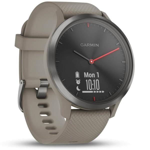 Garmin vivomove HR Schiefergrau/ Sand Sport Smartwatch im analogen Uhrendesign bei CardioZone günstig online kaufen