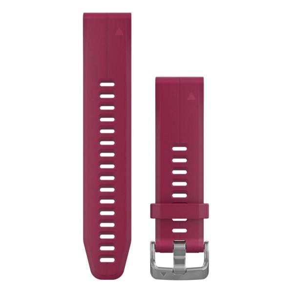Garmin Quickfit 20mm Silikon-Armband Kirschrot / Silber Gr. M für fenix 5S bei CardioZone guenstig online kaufen
