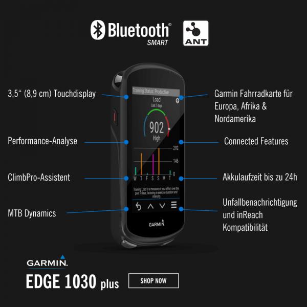 Garmin Edge1030 Plus GPS Radcomputer mit integrierter Europakarte bei CardioZone günstig online kaufen