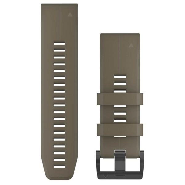Garmin Quickfit 26mm Silikon-Armband Sandbraun (Coyote Tan) / Schwarz Gr. M bei CardioZone guenstig online kaufen