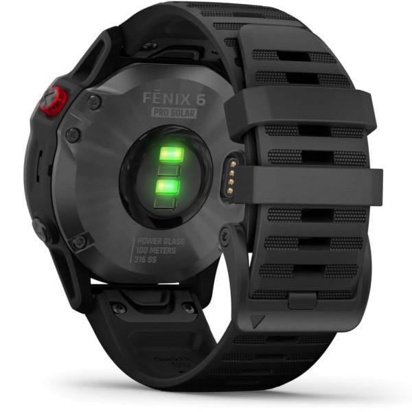 Garmin fenix6PRO SOLAR Schiefergrau - Armband Schwarz bei CardioZone günstig online kaufen