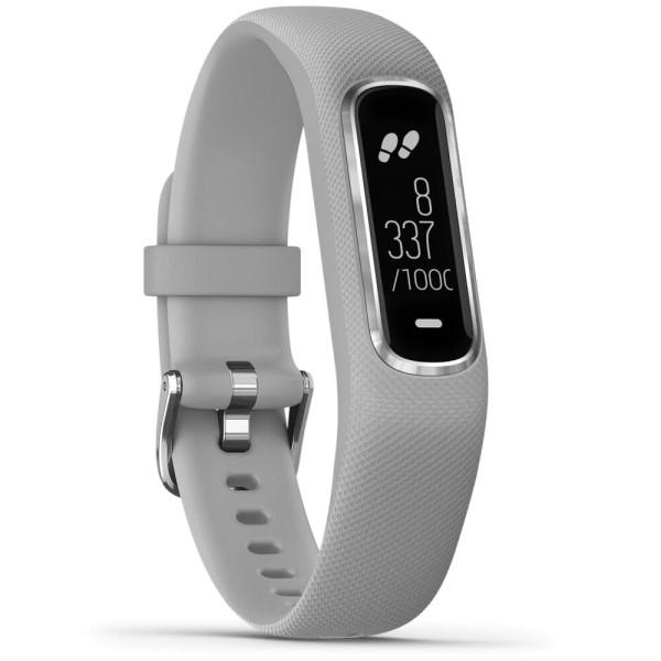 Garmin vivosmart 4 Fitness-Tracker Hellgrau/Silber Größe S-M bei CardioZone guenstig online kaufen