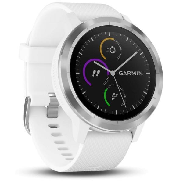 Garmin vívoactive 3 GPS-Multisport-Smartwatch in Weiß-Silber bei CardioZone guenstig online kaufen