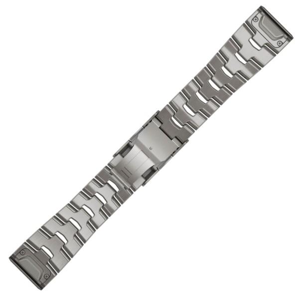 Garmin Quickfit Titan Armband 26mm Silbergrau mit Schlitzen für fenix 6X bei CardioZone günstig online kaufen