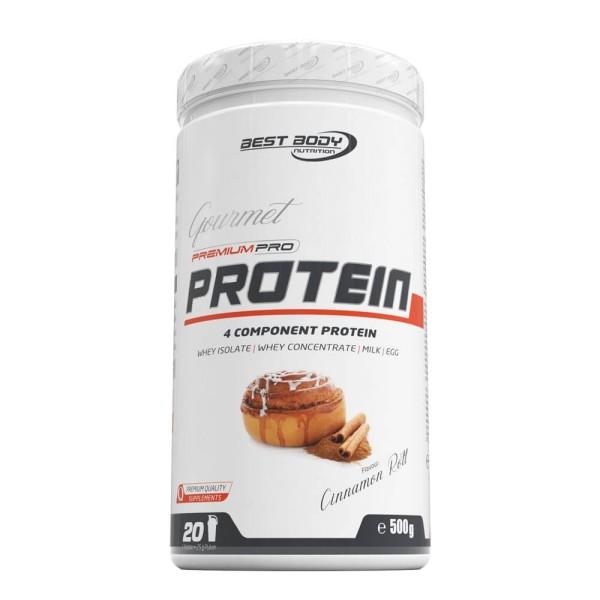 Best Body Gourmet Premium Pro Protein - Cinnamon Roll - 500 g Dose bei CardioZone günstig online kaufen