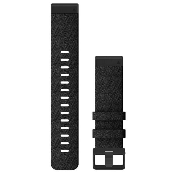 Garmin Quickfit Nylon Armband 22mm Schwarz / Gesprenkelt Schnalle in Schiefergrau für fenix 6 bei CardioZone günstig online kaufen