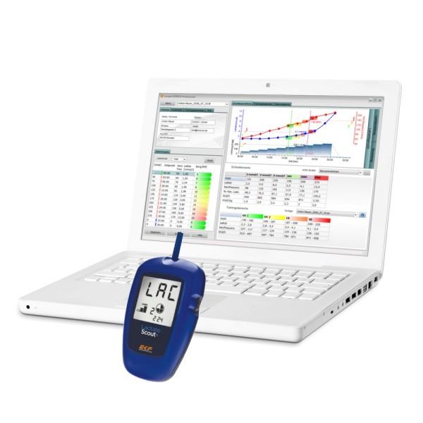 Lactate EXPRESS professional Laktat Analysesoftware mit Lactate Scout Bluetooth Starter Set