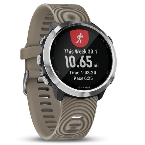 Garmin Forerunner 645 Sandfarben/Silber GPS-Lauf Pulsuhr