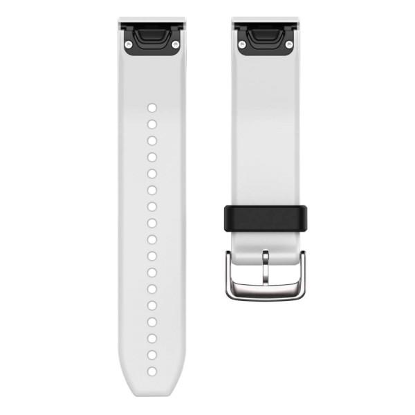 Garmin Quickfit 22mm Silikon-Armband Weiss / Schnalle in Silber bei CardioZone günstig online kaufen