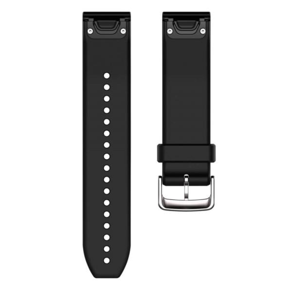 Garmin Quickfit 22mm Silikon-Armband Schwarz / Schnalle in Silber bei CardioZone günstig online kaufen