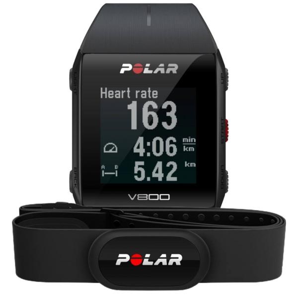 POLAR V800 GPS HR schwarz mit H10 Bluetooth Brustgurt bei CardioZone online kaufen