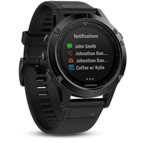 Garmin fēnix 5 Multisportuhr Saphir schwarz mit schwarzem Armband bei CardioZone guenstig online kaufen