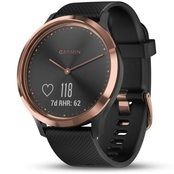 Garmin vivomove HR Schwarz/Rosegold Sport Smartwatch im analogen Uhrendesign bei CardioZone günstig online kaufen
