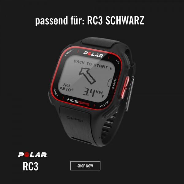 POLAR RC3 Armband Schwarz M-L - Ersatzteil bei CardioZone günstig online kaufen