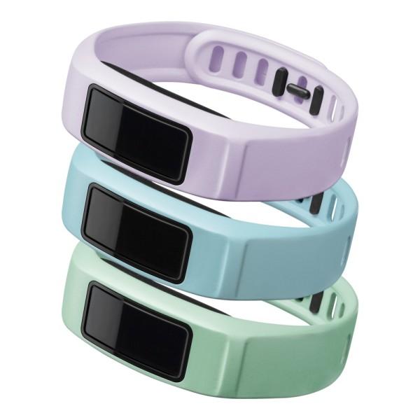 Garmin Ersatzarmbänder vivofit 2 Gr.L in minze, himmelblau, flieder guenstig bei CardioZone online kaufen