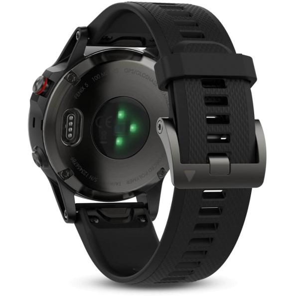Garmin fēnix 5 Multisportuhr Grau mit Armband in schwarz bei CardioZone guenstig online kaufen