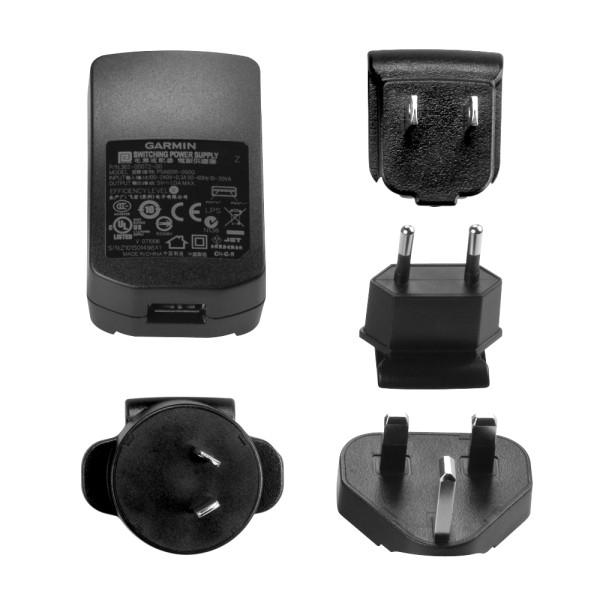 Garmin USB Lade-Netzteil 230V für viele Forerunner, Edge, Approach und Varia Modelle bei CardioZone online kaufen