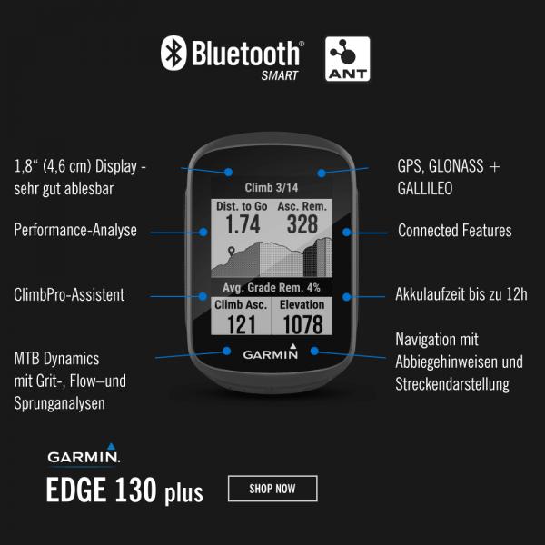 Garmin Edge130 Plus GPS Radcomputer bei CardioZone günstig online kaufen