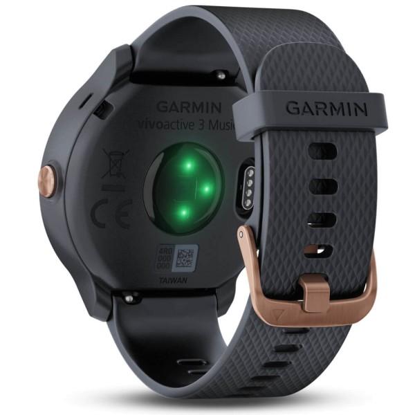 Garmin vivoactive 3 Music Granitblau / Roségold GPS-Smartwatch bei CardioZone günstig online kaufen