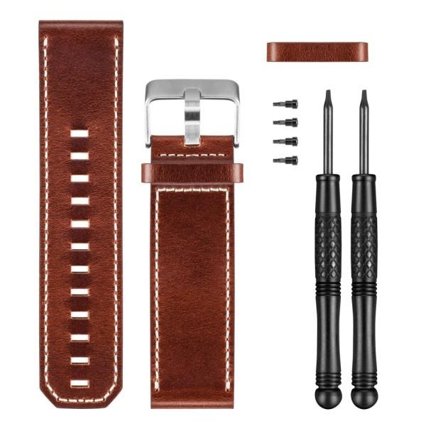 Garmin fenix 3 Ersatz - Wechsel Armband Leder Braun