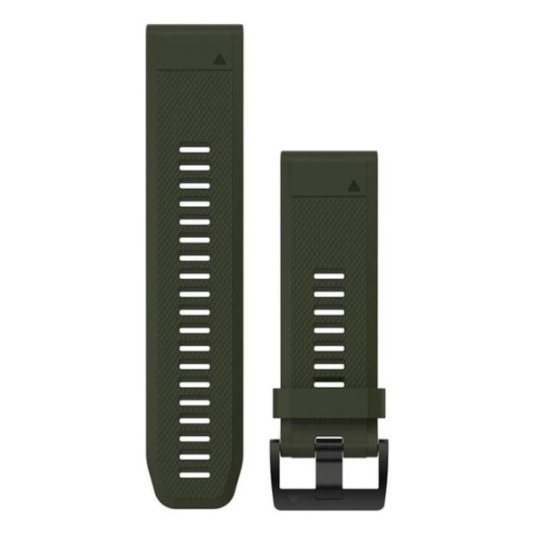 Garmin fenix 5X QuickFit Silikon Armband  in oliv grün und 26mm Breite bei CardioZone guenstig online kaufen - passend auch für Garmin fenix 3