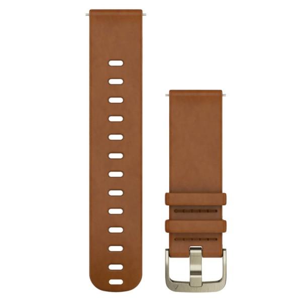 Garmin Schnellwechsel-Armband 20mm braunes Lederarmband bei CardioZone guenstig online kaufen