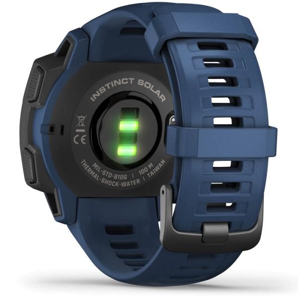 Garmin Instinct SOLAR Outdoor Smartwatch Dunkelblau bei CardioZone online kaufen
