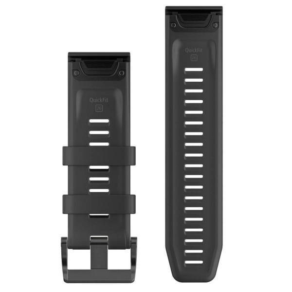Garmin Quickfit 26mm Silikon-Armband Schwarz / Schwarz Gr. M bei CardioZone guenstig online kaufen