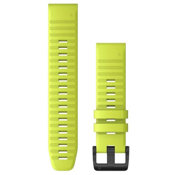 Garmin Quickfit Silikon Armband 22mm Leuchtgelb / Schnalle in Schiefergrau für fenix 6 bei CardioZone günstig online kaufen