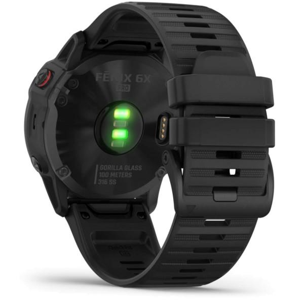 Garmin fenix6X PRO Schwarz - Armband Schwarz bei CardioZone günstig online kaufen