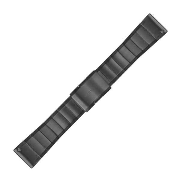 Garmin Quickfit 26mm Edelstahl Metall-Armband Schiefergrau 1-reihig