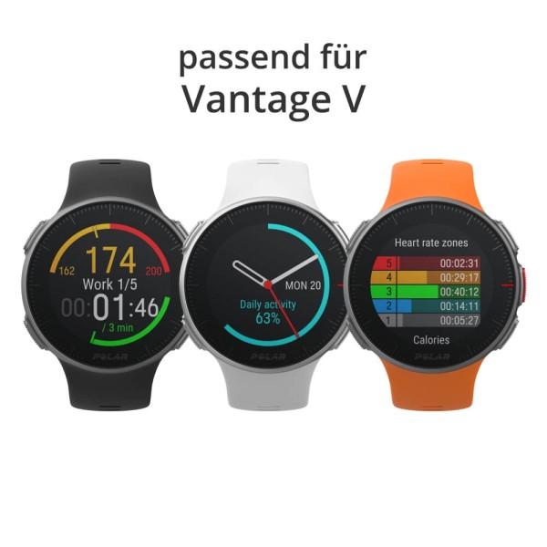 POLAR Vantage V halbes Armband Schwarz, Weiss o. Orange Größe S bei CardioZone günstig online kaufen