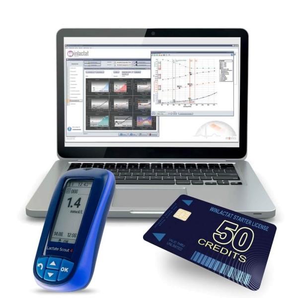 winlactat 5.x Startlizenz mit 50 Credits & Lactate Scout 4 Bluetooth Smart Starterset