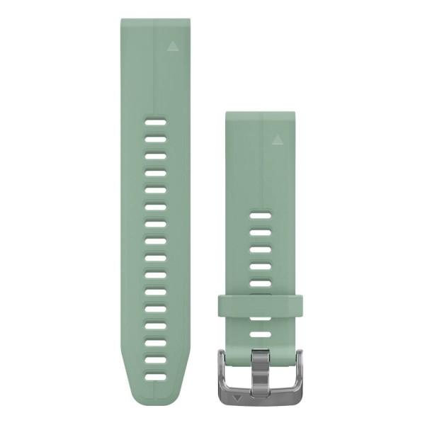 Garmin Quickfit 20mm Silikon-Armband Jadegrün / Silber Gr. M für fenix 5S bei CardioZone guenstig online kaufen