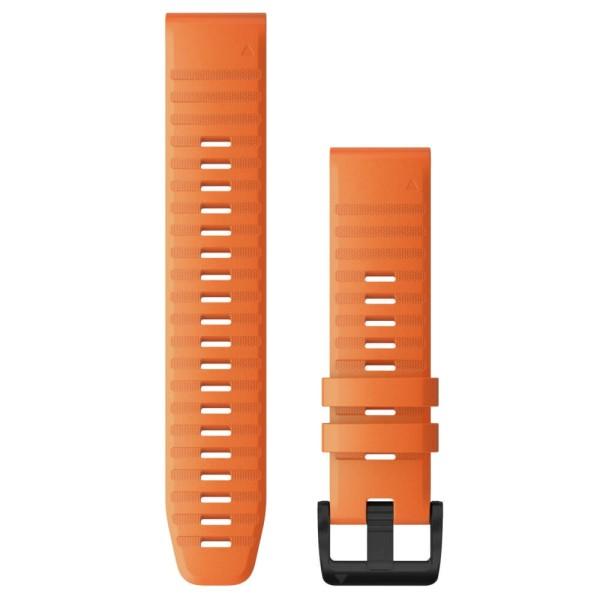 Garmin Quickfit Silikon Armband 22mm Orange / Schnalle in Schiefergrau für fenix 6 bei CardioZone günstig online kaufen