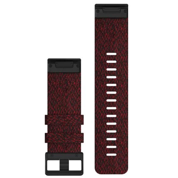 Garmin Quickfit Nylon Armband 26mm Rot / Gesprenkelt Schnalle in Schiefergrau für fenix 6X bei CardioZone günstig online kaufen