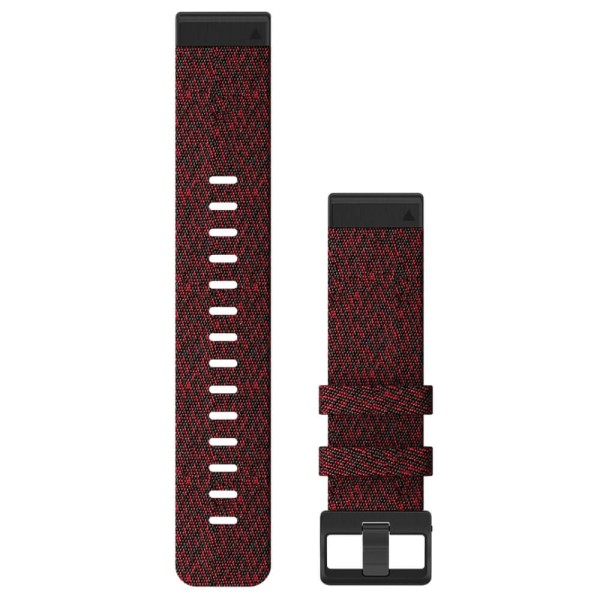 Garmin Quickfit Nylon Armband 22mm Rot / Gesprenkelt Schnalle in Schiefergrau für fenix 6 bei CardioZone günstig online kaufen