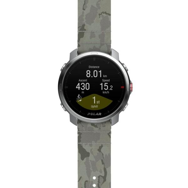 POLAR GRIT X 22mm Wechselarmband Tundra Grün PET Gewebt - Größe M/L bei CardioZone günstig online kaufen