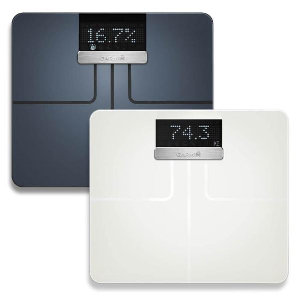 Garmin Index Smart Scale digitale WiFi Körperwaage in schwarz und weiss guenstig bei CardioZone online kaufen