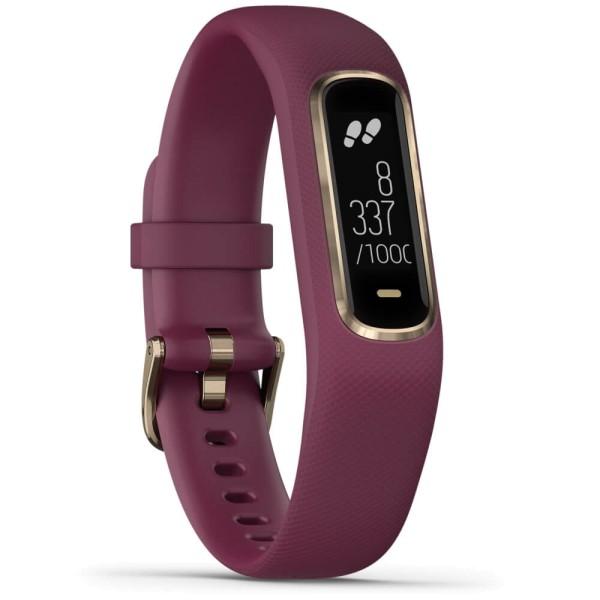 Garmin vivosmart 4 Fitness-Tracker Dunkelrot/Rosegold Größe S-M bei CardioZone guenstig online kaufen