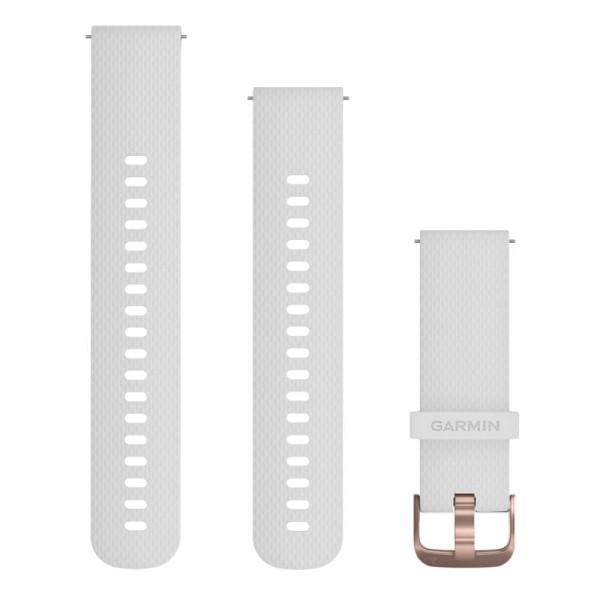 Garmin Schnellwechsel-Armband 20mm weißes Silikonarmband bei CardioZone guenstig online kaufen