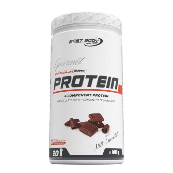 Best Body Gourmet Premium Pro Protein - Milk Chocolate - 500 g Dose bei CardioZone günstig online kaufen