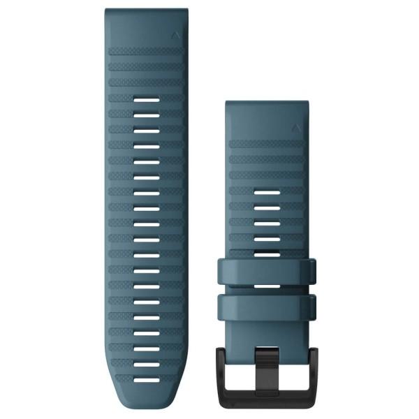 Garmin Quickfit Silikon Armband 26mm Blau / Schnalle in Schiefergrau für fenix 6X bei CardioZone günstig online kaufen