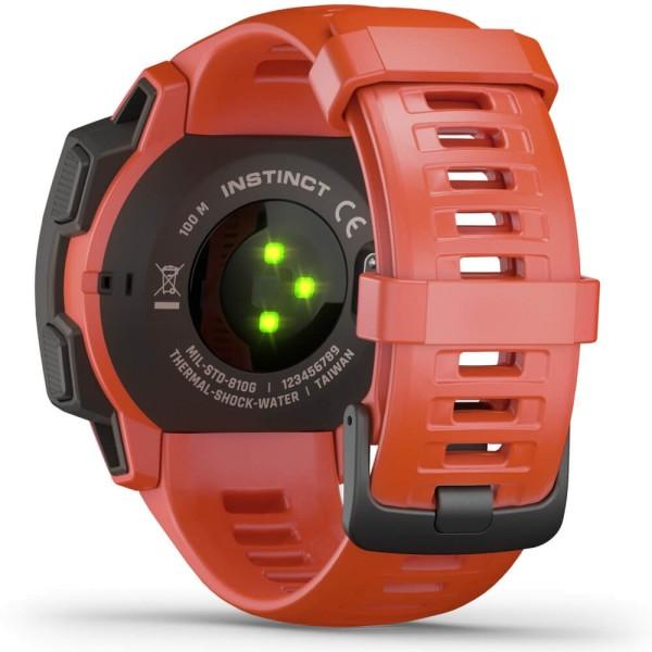 Garmin Instinct Outdoor Smartwatch - Hellrot/ Schiefergrau bei CardioZone günstig online kaufen